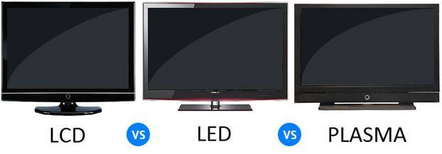 تفاوت lcd و led و پلاسما